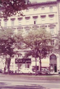 33 Schottenring, from whose second story windows Rosi watched the Nazis parade into Vienna