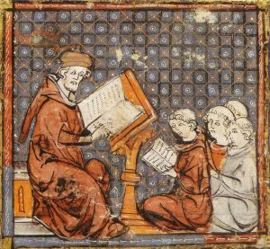 Teaching-at-Paris-late-14-th-cent