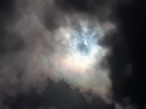 The elipse in progress in Florida, captured on cellphone by Rob Kunz